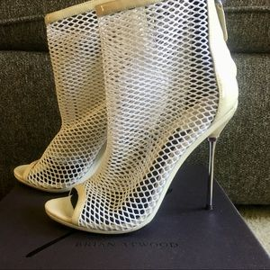 Shoes - Brian Atwood Mesh Booties